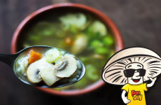 FunGuy Mushrooms Vegetable Rice Soup