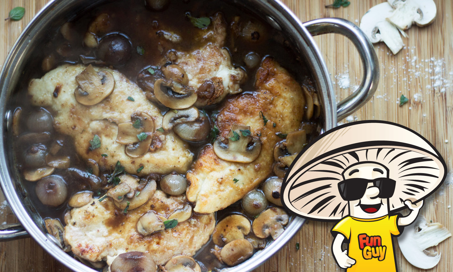 FunGuy Mushrooms Chicken and FunGuy Mushrooms with Port ...