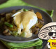 FunGuy Sweet Potato Hash with Poached Egg and Hollandaise Sauce