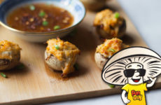 Crab Rangoon Stuffed FunGuy Mushrooms