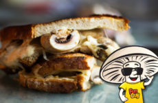 FunGuy's Herbed Garlic Mushroom Grilled Cheese Sandwich