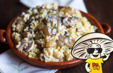 Toasted Couscous with Creamy Balsamic FunGuy Mushrooms and Pearl Onions
