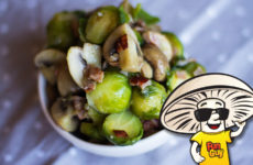 Honey Butter Sautéed FunGuy Mushrooms and Brussel Sprouts