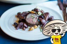 FunGuy's Holiday Stuffed Steak with Red Wine Mushrooms