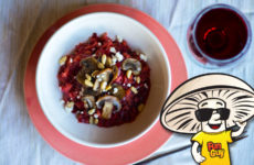 Beet Risotto with FunGuy Mushrooms and Feta